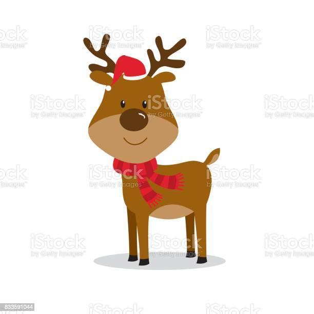 Süße Christmas Rentier Stock Vektor Art und mehr Bilder von Blatt - Pflanzenbestandteile