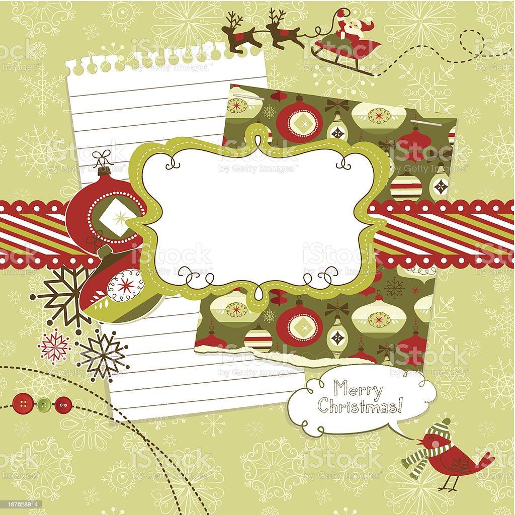 Scrapbook Elemente Niedlichen Weihnachten Vektor Illustration ...