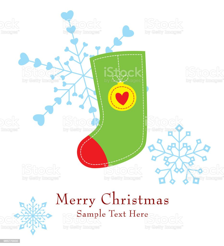 cute christmas sock greeting card vector royalty-free cute christmas sock greeting card vector stock vector art & more images of art
