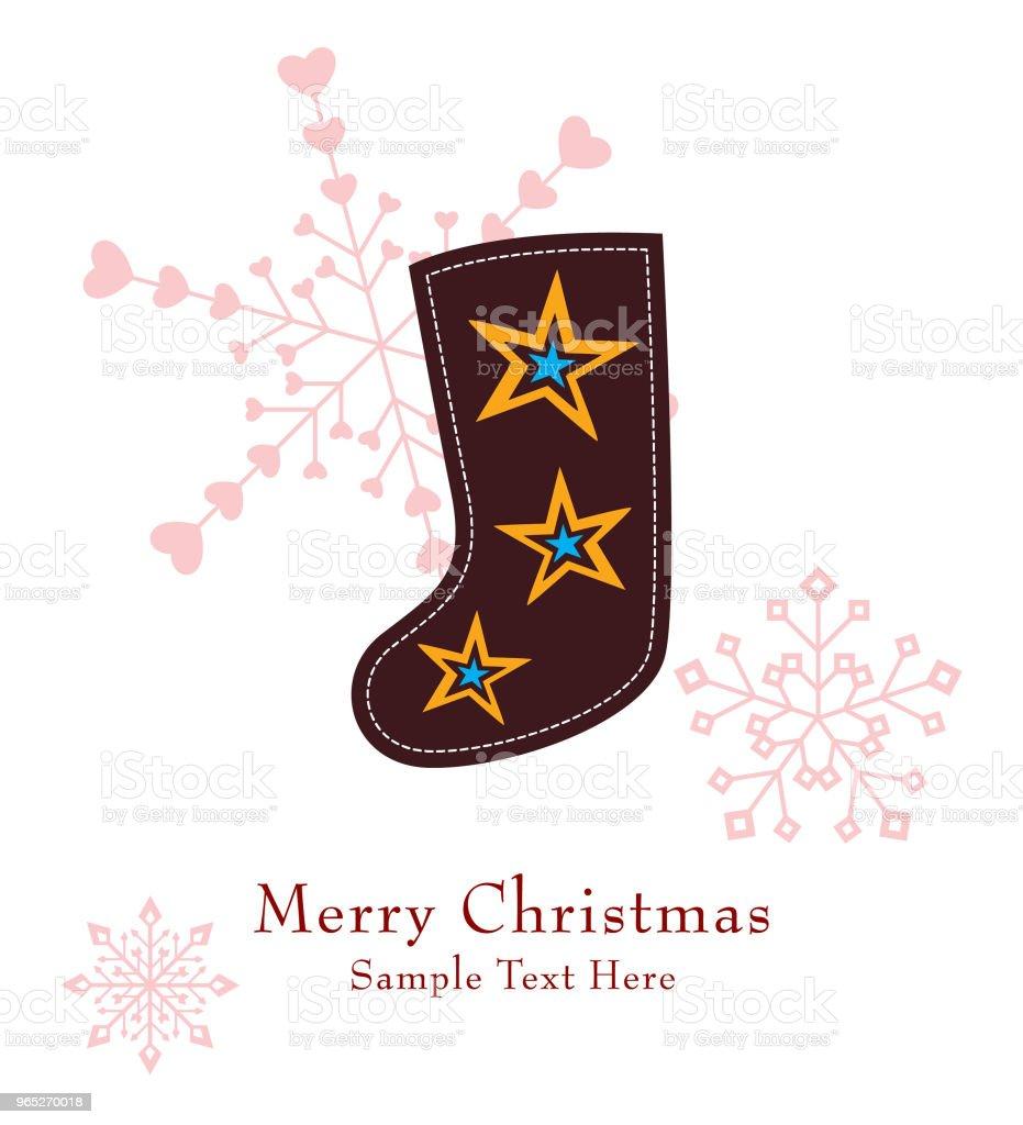 cute christmas sock greeting card vector cute christmas sock greeting card vector - stockowe grafiki wektorowe i więcej obrazów bazgroły - rysunek royalty-free