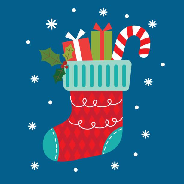 Cute Christmas socks design Cute Christmas socks design christmas stocking stock illustrations