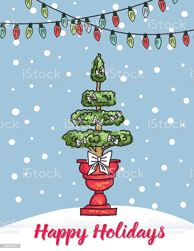 cute christmas tree background royalty free cute christmas tree background stock vector art