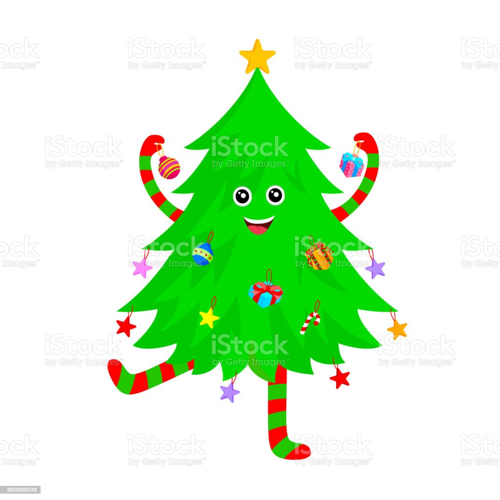 Cute Christmas Tree Cartoon Characters Design Stock Illustration Download Image Now Istock Polish your personal project or design with these cartoon tree transparent png images, make it even more personalized and more attractive. cute christmas tree cartoon characters design stock illustration download image now istock