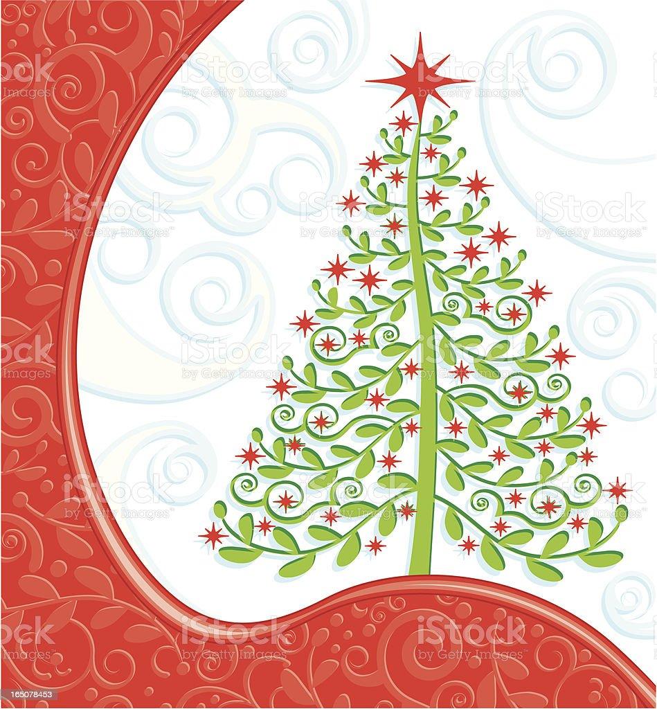 Cute Christmas Tree royalty-free stock vector art