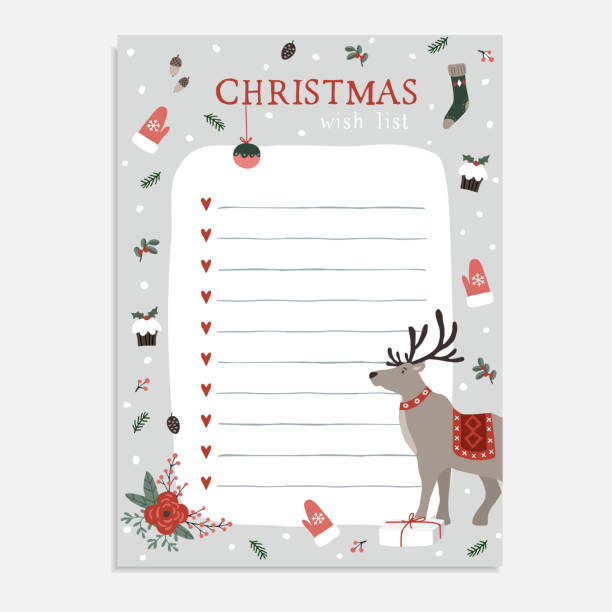 644 Christmas Wish List Illustrations Clip Art Istock