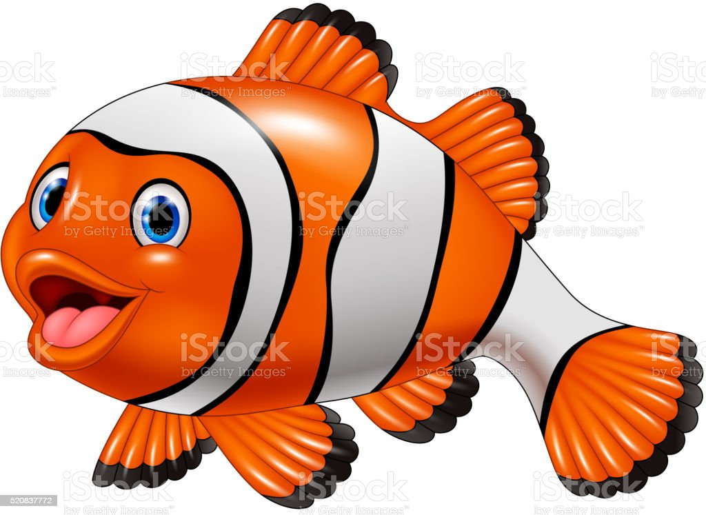 Cute Clown Fish Cartoon Stock Vector Art & More Images of Animal ...