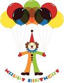 Cute Clown with Ballons
