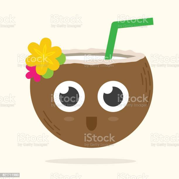 Cute coconut drink with a straw big eyes and a smile on its face vector id821711990?b=1&k=6&m=821711990&s=612x612&h=3afhwxmxo57kklymh6hdfuwgssrpd xwdcwso6p7gmk=