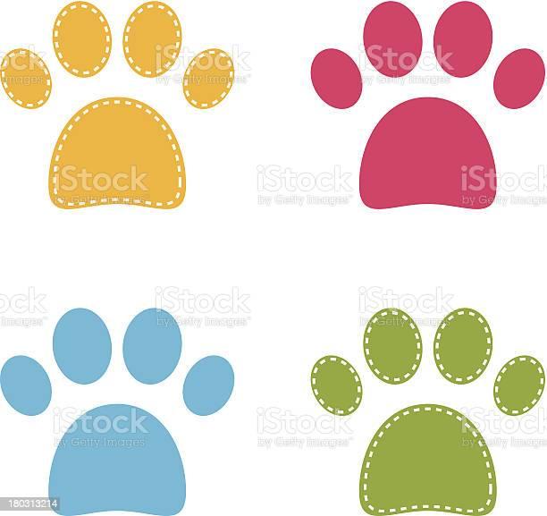 Cute colorful doggie paws isolated on white vector id180313214?b=1&k=6&m=180313214&s=612x612&h=geeyer djkg tlp 2kpva6fcmusnwjnugq1l0nptqdw=