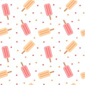 cute colorful ice cream seamless vector pattern background illustration