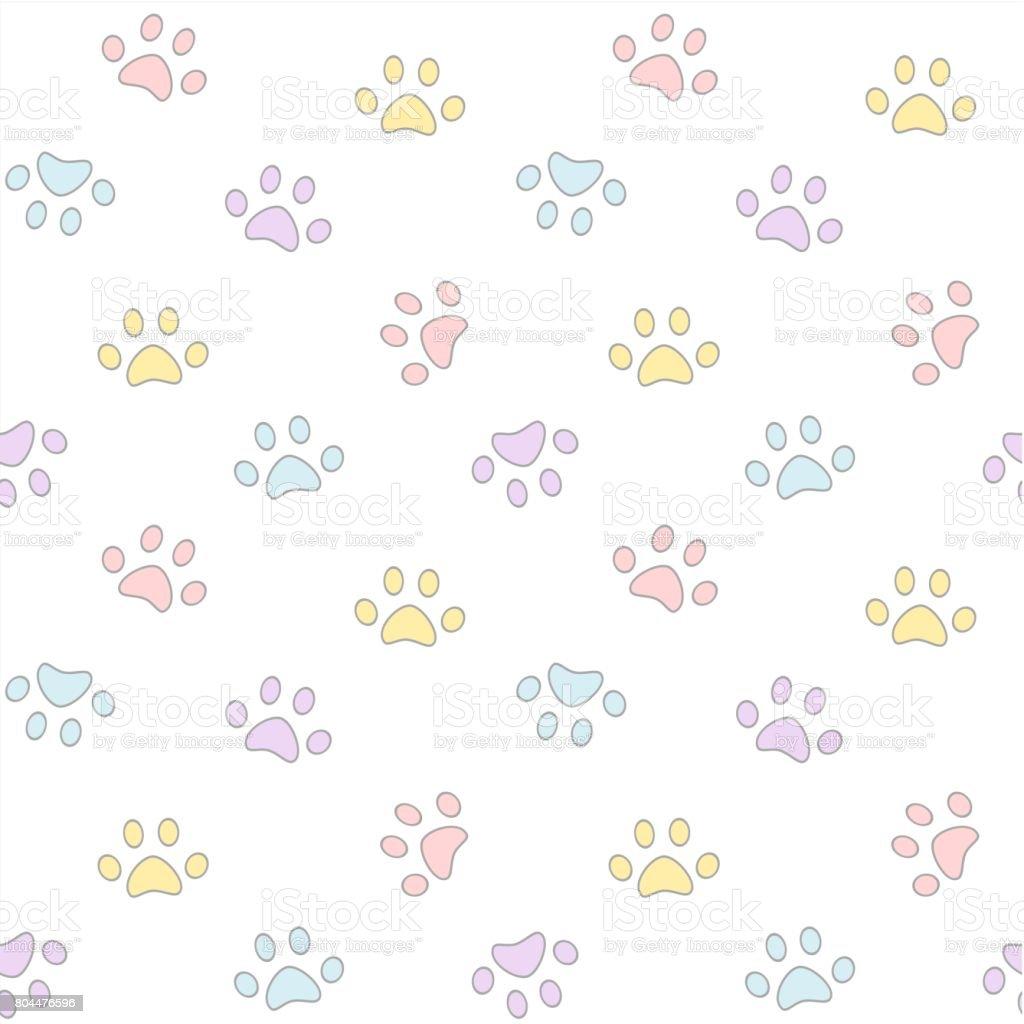 かわいいカラフルな足シームレスなベクトル パターン背景イラスト