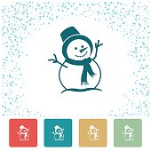 Cute Colourful Christmas Holiday Icons. The main one has a spotted snowy edge.