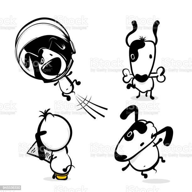 Cute comic dog monochrome sticker set vector id945336330?b=1&k=6&m=945336330&s=612x612&h= korradd9jyjhtrgotbjkif2nrdqjo4gb3m487s ta8=