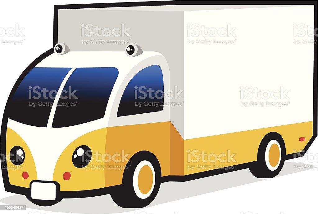 cute commercial van royalty-free stock vector art