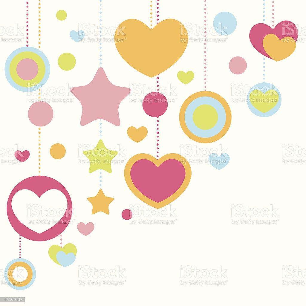 fofo parabéns cartão com moldura de corações  arte