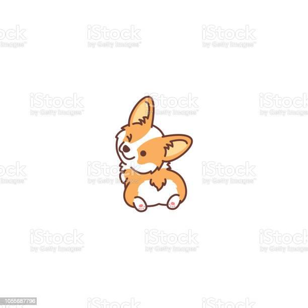 Cute corgi dog looking back and winking vector illustration vector id1055687796?b=1&k=6&m=1055687796&s=612x612&h=tmuejv8rlgpm0hiox rohjk7 sp9vtobxn4abvkd eo=