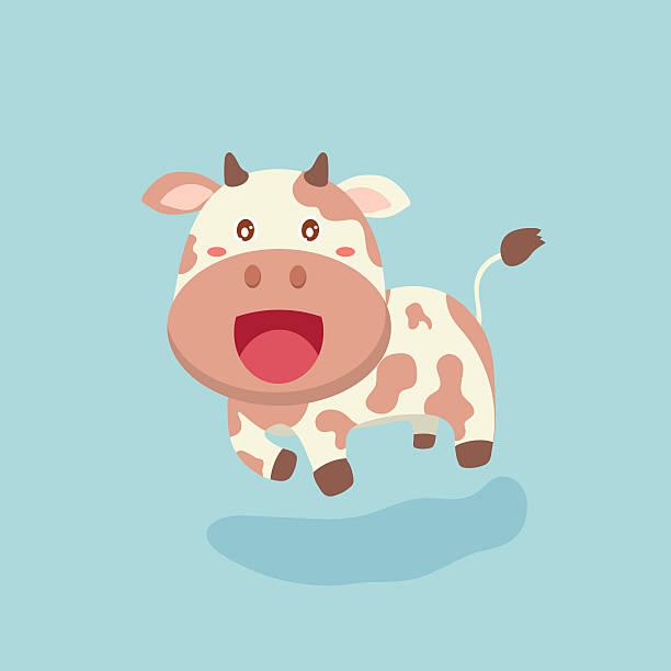 cute cow cartoon. - lustige kuh bilder stock-grafiken, -clipart, -cartoons und -symbole