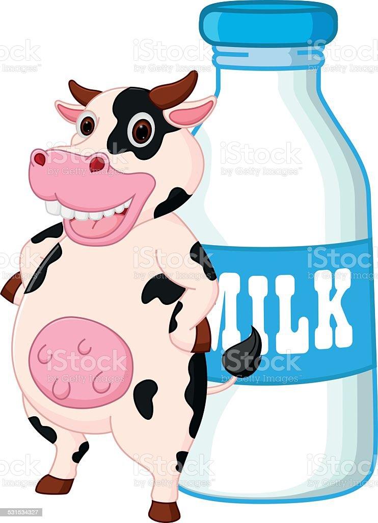 Cow Milk Animation Cute Cow Cartoon With ...