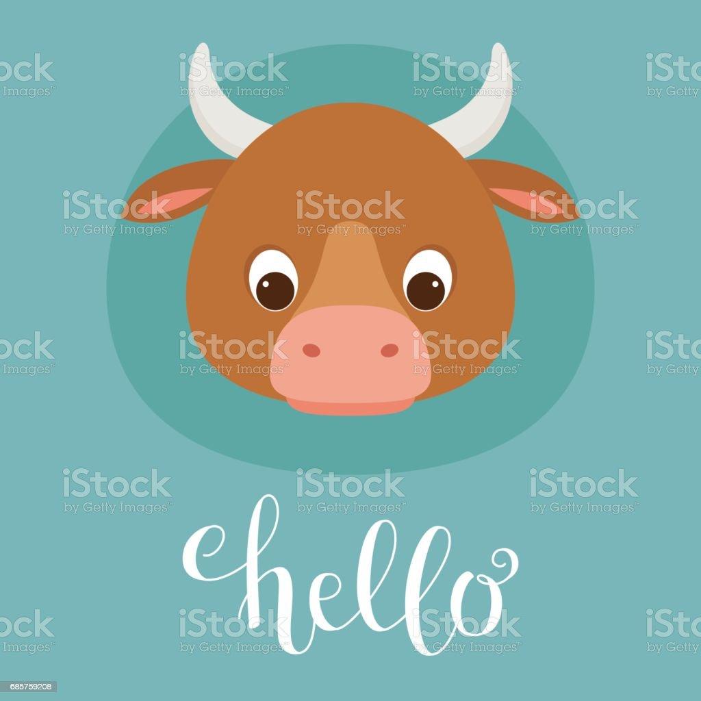 Cute cow head cute cow head - immagini vettoriali stock e altre immagini di abbigliamento casual royalty-free
