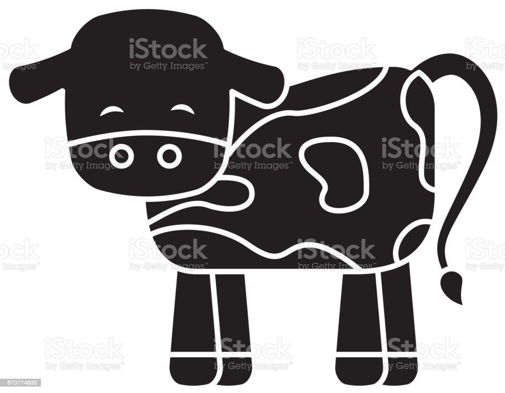 personnage de crèche mignonne vache personnage de crèche mignonne vache – cliparts vectoriels et plus d'images de art libre de droits