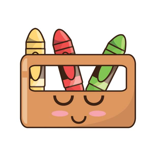 Royalty Free Box Crayons Cartoon Clip Art Vector Images - Cartoon-pictures-of-crayons