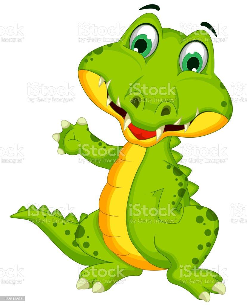 Crocodile dessin anim mignon posant vecteurs libres de droits et plus d 39 images vectorielles de - Dessin anime crocodile ...