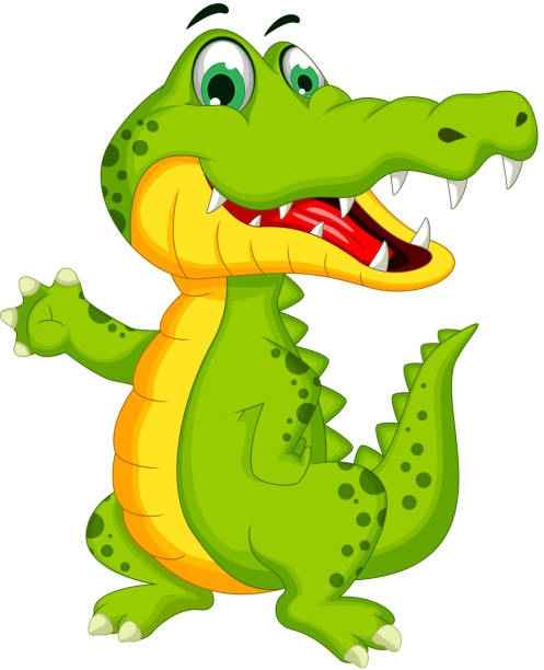 Royalty Free Alligator And Crocodile Drawing Clip Art ...