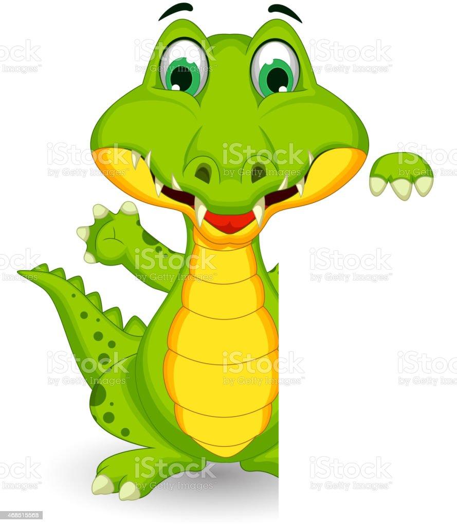 Crocodile dessin anim mignon posant avec signe vierge vecteurs libres de droits et plus d - Dessin anime crocodile ...