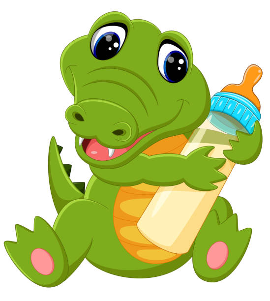 Alligator Cute Outline Vector Illustrations, Royalty-Free ...