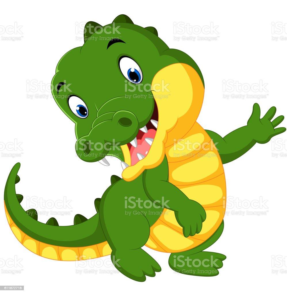 Crocodile dessin anim mignon vecteurs libres de droits et plus d 39 images de afrique 611872718 - Dessin anime crocodile ...