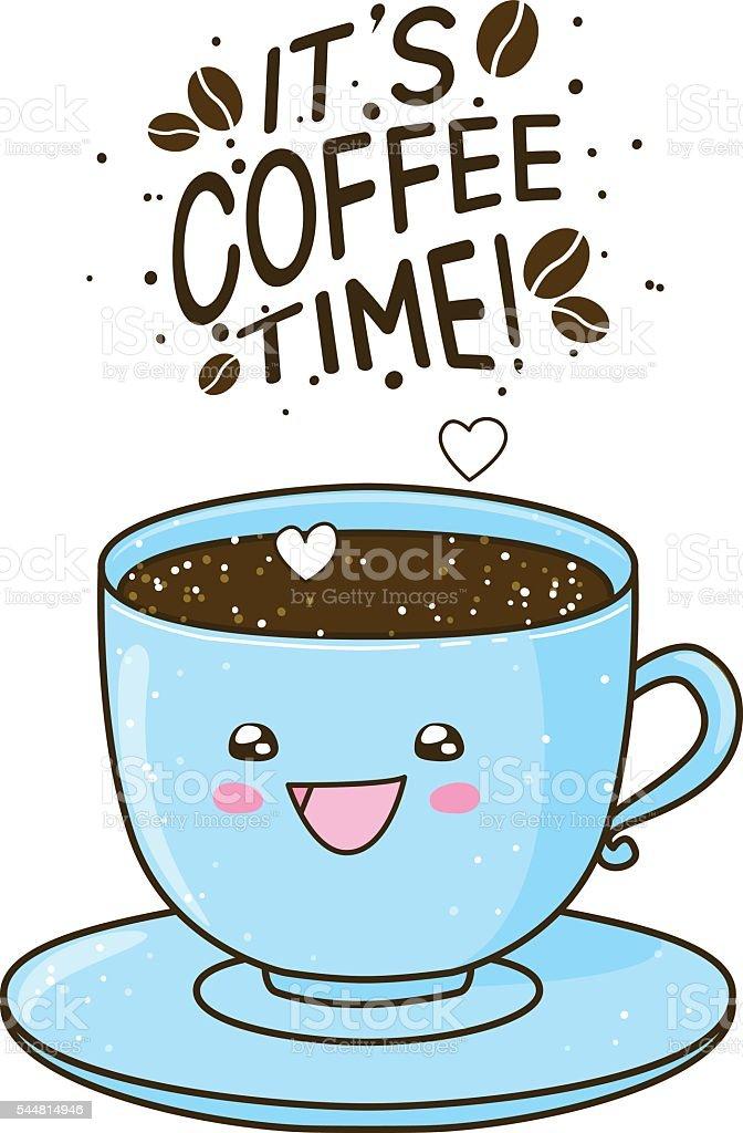 Cute coffee cartoon