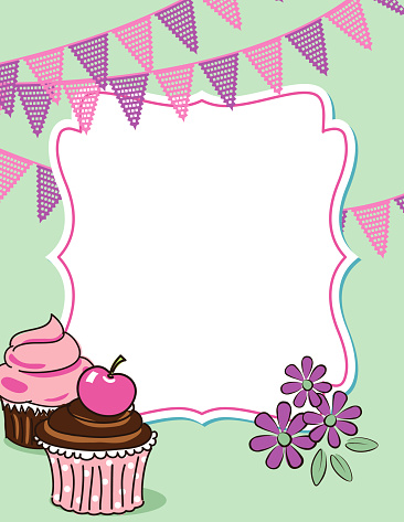 Cute Cupcake Party Invitation Template