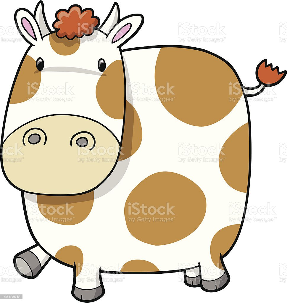 Cute Dairy Cow royalty-free cute dairy cow stock vector art & more images of animal