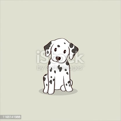 istock Cute Dalmatian puppy illustration 1165141988