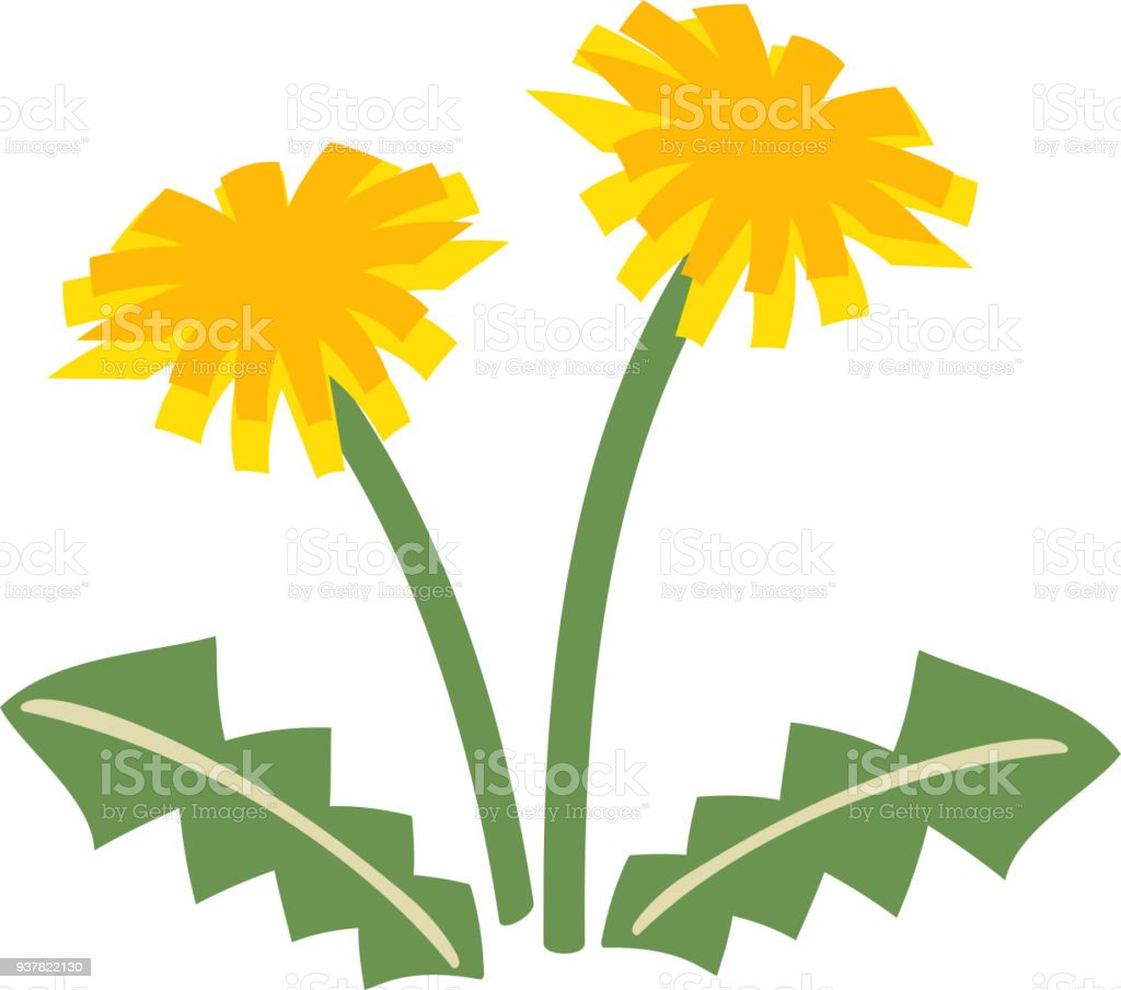 cute dandelion stock vector art more images of april 937822130 rh istockphoto com dandelion clip art black & white dandelion clip art free