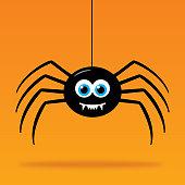 istock Cute Dangling Cartoon Spider 1279704443