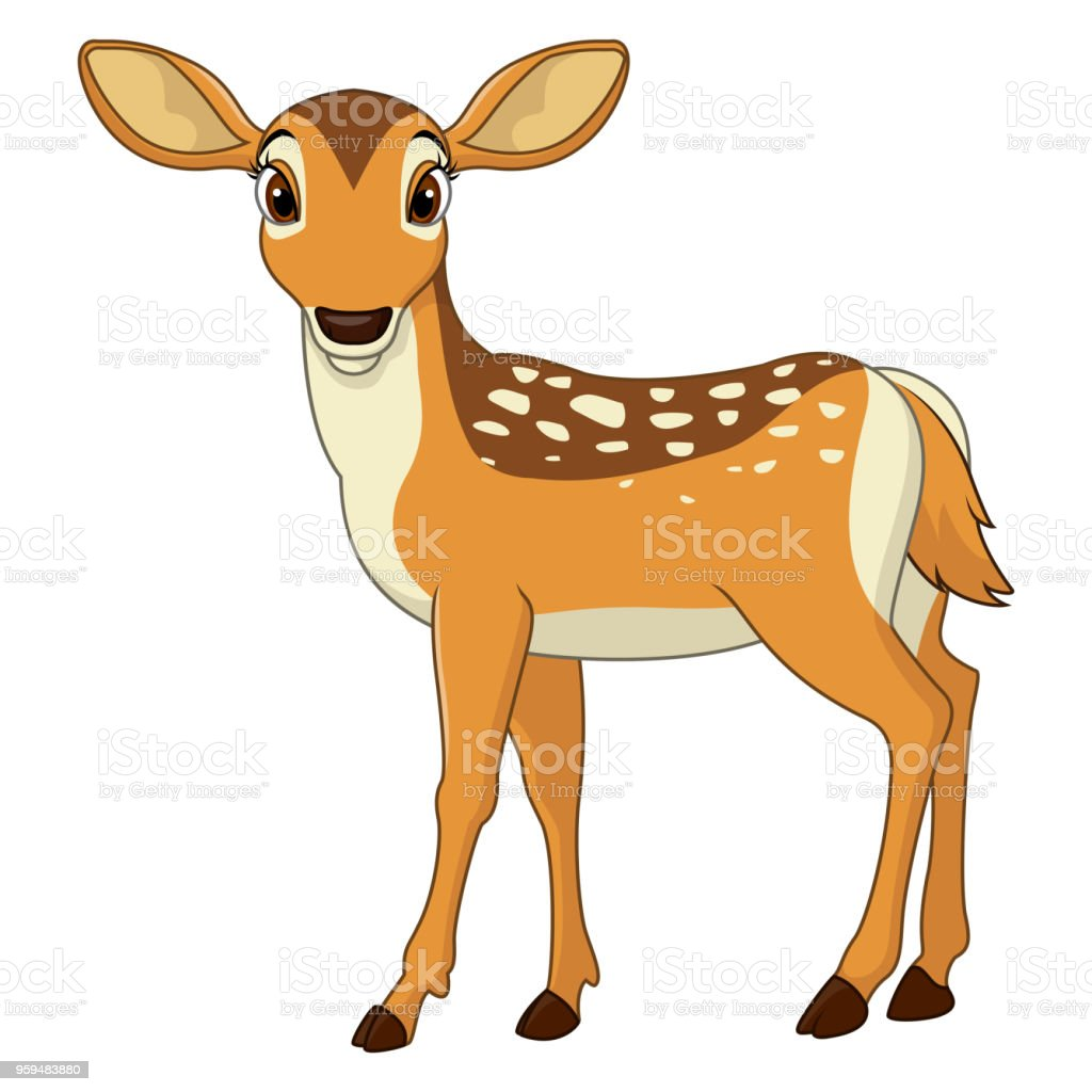 Dessin animé mignon deer - Illustration vectorielle