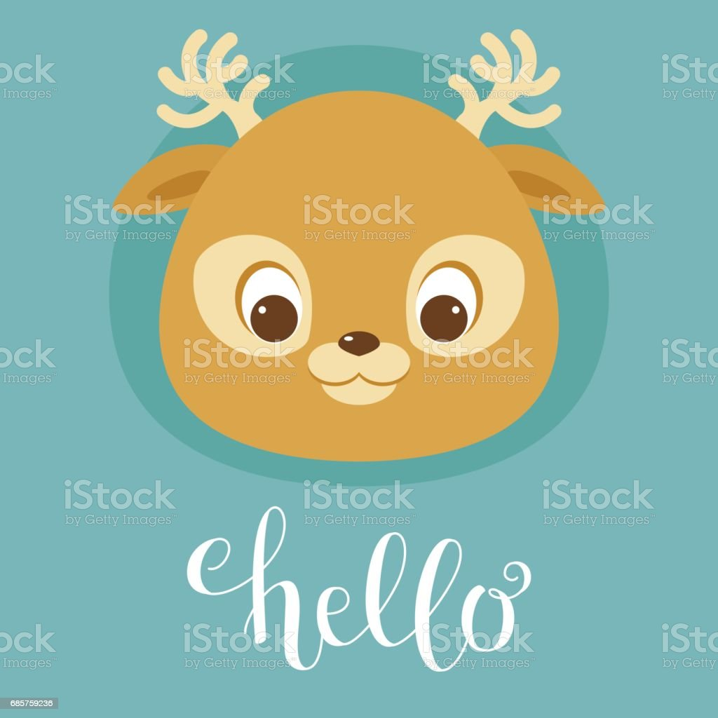 Cute deer head cute deer head - stockowe grafiki wektorowe i więcej obrazów awatar royalty-free
