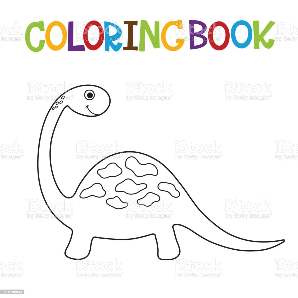 Cute Dino Coloring Book Stock Illustration - Download Image Now