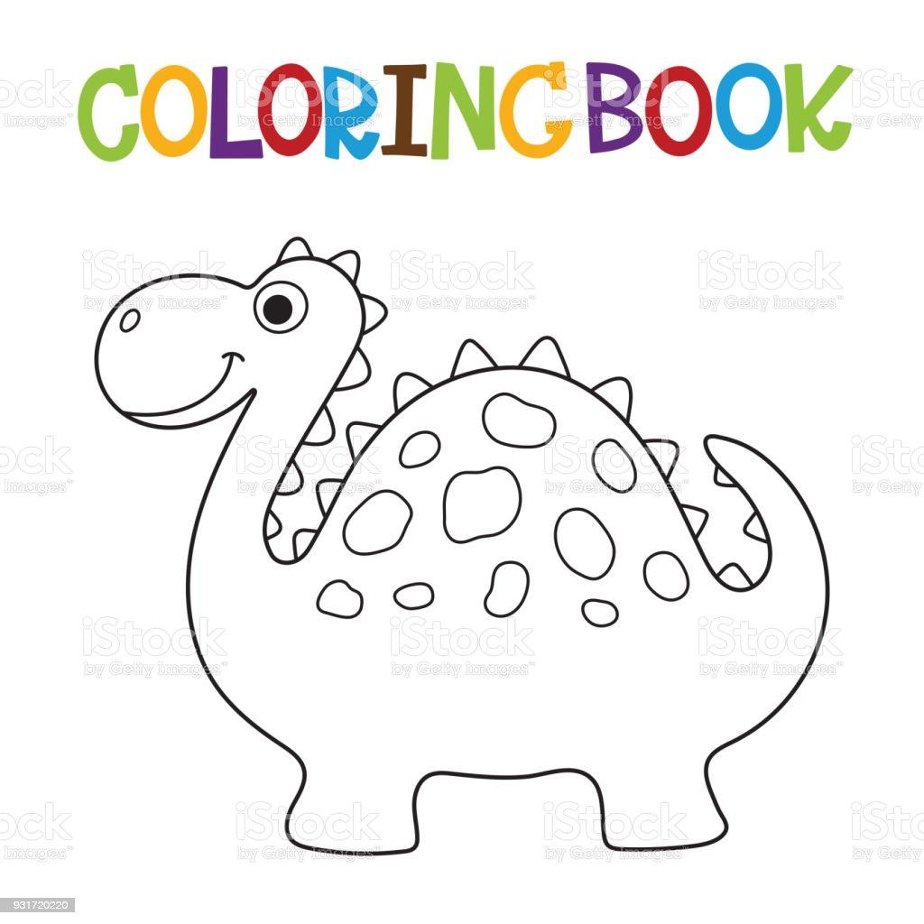 Ilustración de Libro Para Colorear De Dino Lindo y más banco de ...