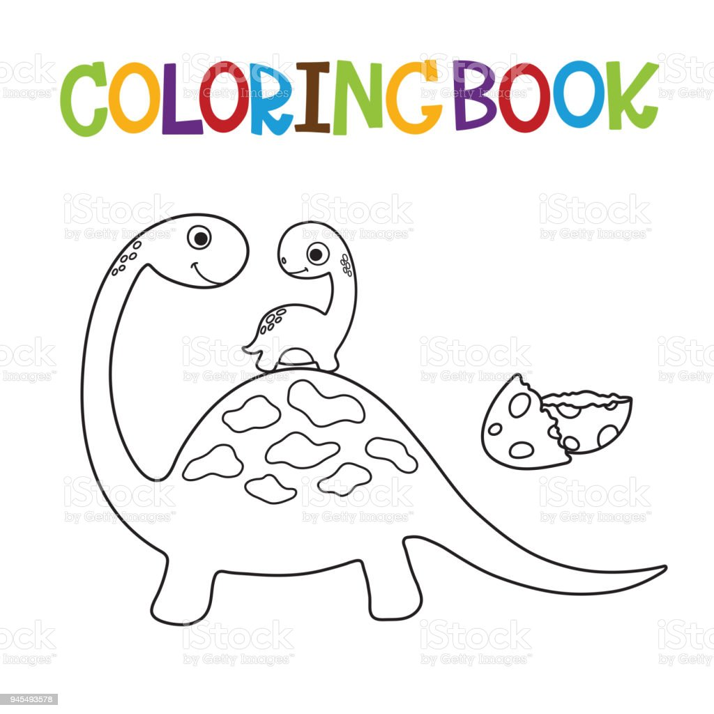 Cute Dino Coloring Book Royalty Free Stock Vector Art Amp