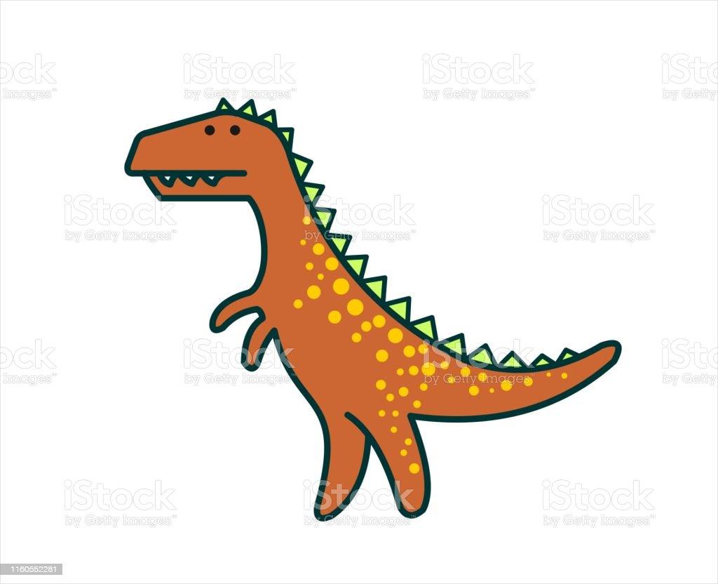 Netter Dinosaurier Dino Tyrannosaurus Rex Trex Zum Drucken Moderne