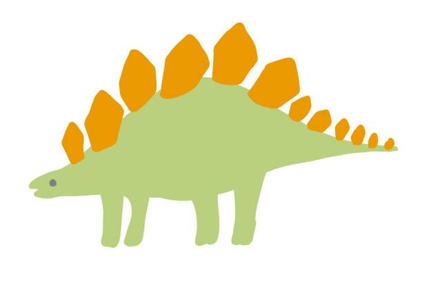 Cute dinosaur icon vector art illustration