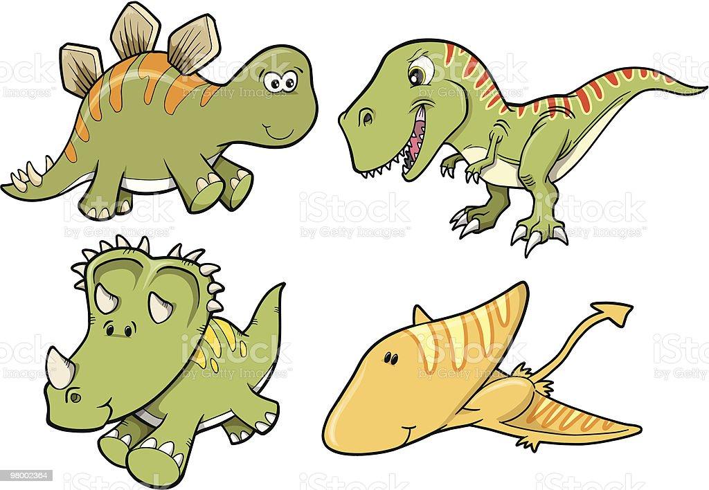 Cute Dinosaur Set royalty free cute dinosaur set stockvectorkunst en meer beelden van dier