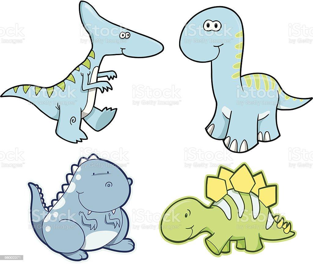 Dinossauro bonito conjunto ilustração de dinossauro bonito conjunto e mais banco de imagens de animal royalty-free