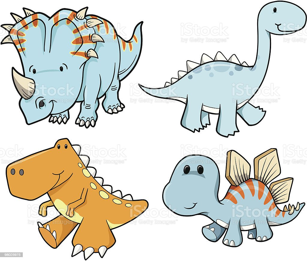 Cute Dinosaur Set royalty-free cute dinosaur set stock vector art & more images of animal