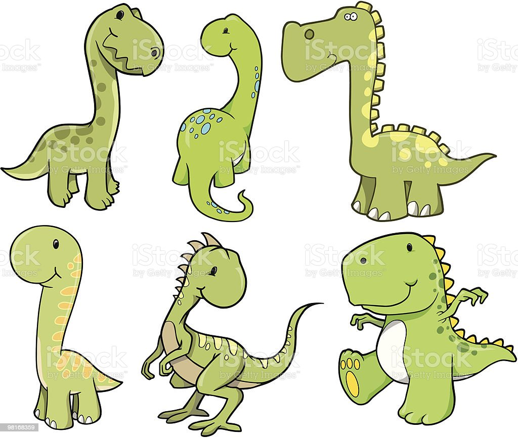 Cute Dinosaur Set royalty-free cute dinosaur set stock vector art & more images of animal