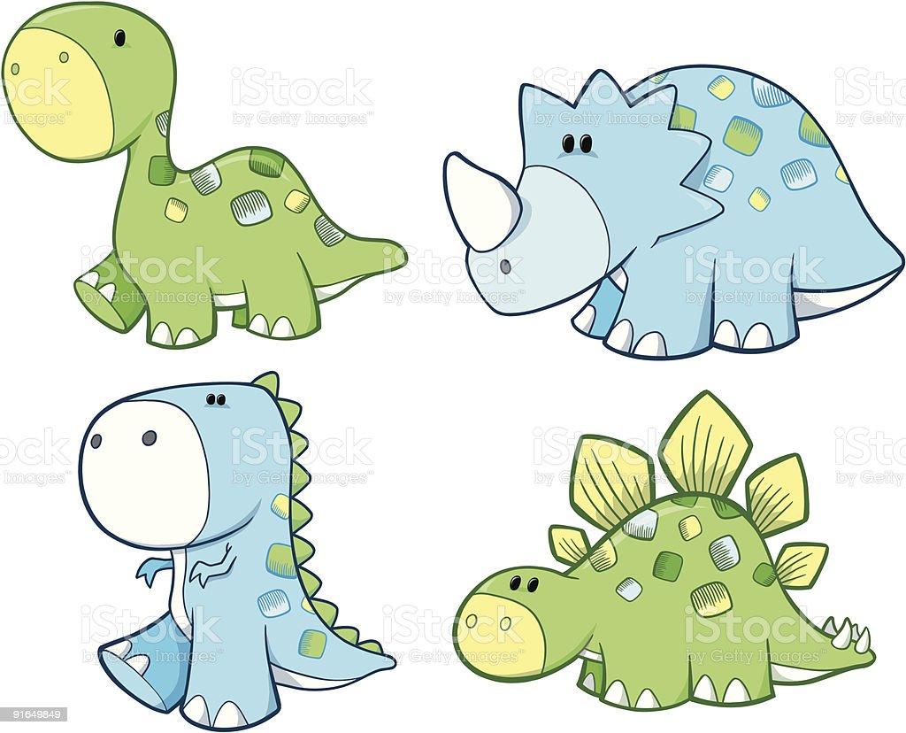 royalty free cute dinosaur clipart clip art vector images rh istockphoto com cute dinosaur clip art free Cute Cartoon Dinosaur Clip Art