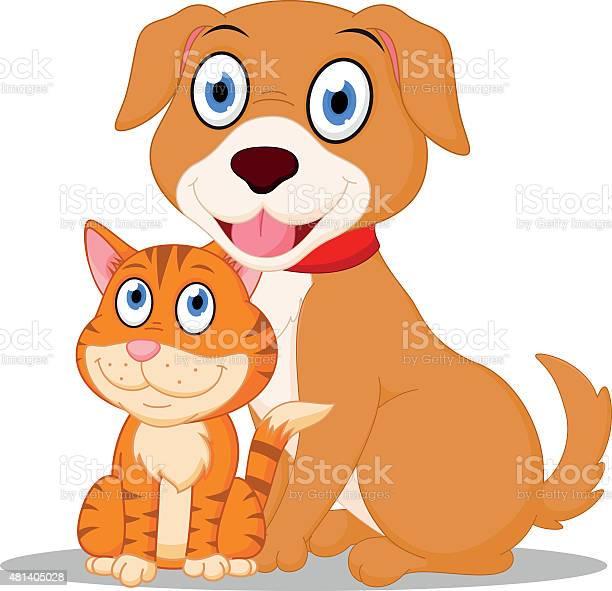 Cute dog and cat cartoon vector id481405028?b=1&k=6&m=481405028&s=612x612&h=2bqb1aak dh9in3w5q n 2utcmvrd99eu9trrl2i8ic=