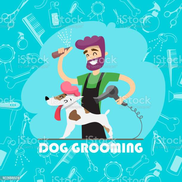 Cute dog at groomer salon and set of icons vector id922658524?b=1&k=6&m=922658524&s=612x612&h=bryhzxteslci7qdps9sgguennehnhpijf ayu mxkt8=
